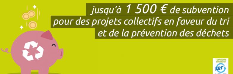Appel à projets pour le tri et la réduction des déchets