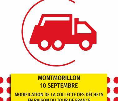 Modification de collecte pour le Tour de France